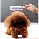 baratos Acessórios & Roupas para Cachorros-Cachorros Gatos Limpeza Escovas Portátil Massgem Azul Rosa claro