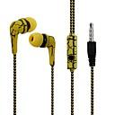 abordables Ecouteurs & Casques Audio-ligne de tissu réfléchissant écouteurs casque crack écouteurs avec microphone casque stéréo pour téléphone portable iphone avec micro