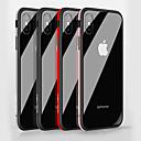 Недорогие Кейсы для iPhone-Кейс для Назначение Apple iPhone X / iPhone 8 Защита от удара / Зеркальная поверхность Кейс на заднюю панель Однотонный Твердый