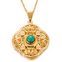 preiswerte Halsketten-Damen Türkis Geometrisch Anhängerketten - vergoldet Retro, Böhmische, Boho Gold 7#5#1 cm Modische Halsketten Für Party / Abend