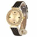 preiswerte Herrenuhren-Damen Armbanduhr Chinesisch Chronograph Leder Band Modisch / Elegant Schwarz / Weiß / Blau / Ein Jahr / SSUO LR626