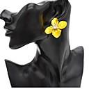 ieftine Cercei-Pentru femei Cercei Stud Florale / Botanice Floare femei Vintage Modă cercei Bijuterii Galben / Rosu / Verde Pentru Dată Stradă