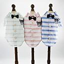 tanie Ubranka i akcesoria dla psów-Psy Koty Zwierzęta domowe Koszulki Ubrania dla psów Wzory Zwierzę Kreskówki Zielony Niebieski Różowy Bawełna / Poliester Kostium Na Dalmatyńczyk Szpic japoński Beagle Wiosna Lato Mężczyzna Urodziny W