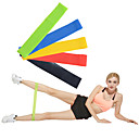 cheap Fitness Accessories-Exercise Resistance Bands With 5 pcs Emulsion Calories Burned, Non Toxic, Stretchy Strength Training, Physical Therapy For Yoga / Pilates / Fitness Home / Office