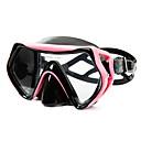 hesapli PS4 Aksesuarları-Yüzme Gözlüğü / Yüz Maskesi Gözlüğü Buğulanmaz, Yıpranmaz İki Pencere - Dalış, Şnorkelcilik Silikon Kauçuk, Temperli Cam - için Mavi /