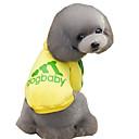 hesapli USB Kabloları-Kedi Köpek Kapüşonlu Giyecekler Köpek Giyimi Harf & Sayı Gri Sarı Kırmzı Pembe Açık Mavi Pamuk Kostüm Evcil hayvanlar için Erkek Kadın's