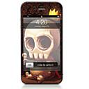 hesapli iPhone Stickerları-1 parça Deri Etiket için Çizilmeye Dayanıklı Kuru Kafalar Tema PVC iPhone 4/4s