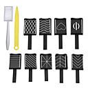 hesapli Makyaj ve Tırnak Bakımı-11pcs Nail Art Aracı Tırnak Araçları Tırnak Boyama Araçları Çok-tonlu tırnak sanatı Manikür pedikür Neon ve Parlak Günlük