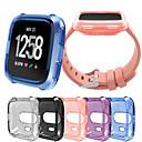 Недорогие Кейсы для Apple Watch-Кейс для Назначение Fitbit Fitbit Versa силикагель Fitbit