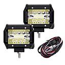 رخيصةأون جسم السيارة الديكور والحماية-2pcs سيارة لمبات الضوء 60W Integrated LED 6000lm 20 LED أضواء الخارج For عالمي 2018