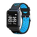 halpa Muotikaulakorut-STSN60 Miehet Smartwatch Android iOS Bluetooth Vedenkestävä Sykemittari Verenpaineen mittaus Kosketusnäyttö Poltetut kalorit Askelmittari Puhelumuistutus Sleep Tracker Löydä laitteeni Herätyskello