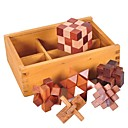 cheap Stacking Blocks-Luban Lock Other Focus Toy Wooden / Bamboo 1pcs Adults / Child's All Gift