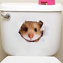رخيصةأون يغطي السيارة-لواصق الثلاجة لواصق المرحاض - ملصقات الحائط الحيوان حيوانات 3D غرفة الجلوس غرفة النوم دورة المياه مطبخ غرفة الطعام غرفة دراسة / مكتب
