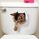 رخيصةأون ملصقات ديكور-لواصق الثلاجة لواصق المرحاض - ملصقات الحائط الحيوان حيوانات 3D غرفة الجلوس غرفة النوم دورة المياه مطبخ غرفة الطعام غرفة دراسة / مكتب