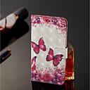 voordelige Galaxy J-serie hoesjes / covers-hoesje Voor Samsung Galaxy J8 / J7 Duo Portemonnee / Kaarthouder / met standaard Volledig hoesje Vlinder Hard PU-nahka voor J8 / J7 Duo / J6