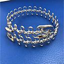 billige Mote Halskjede-Dame Hologram-armbånd Armbånd Blad Formet metallic Enkel Europeisk Legering Armbånd Smykker Gull / Sølv Til Gave Daglig