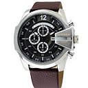 cheap Men's Watches-Men's Dress Watch Japanese Chronograph / Water Resistant / Water Proof / Large Dial Stainless Steel / Leather Band Luxury / Bangle Black