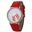 hesapli Kadın Saatleri-Xu™ Kadın's Bilek Saati Quartz Yaratıcı Gündelik Saatler Çok güzel PU Bant Analog Çiçek Moda Beyaz / Kırmızı / Yeşil - Fuşya Kırmzı Yeşil Bir yıl Pil Ömrü