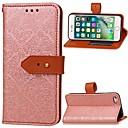 billige iPhone-etuier-Etui Til Apple iPhone 6 Lommebok / Kortholder / med stativ Heldekkende etui Ensfarget Hard PU Leather til iPhone 6