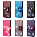 cheap Galaxy S Series Cases / Covers-Case For Nokia Lumia 640 / Lumia 535 Wallet / Card Holder / Rhinestone Full Body Cases Solid Colored / Flower Hard PU Leather for Nokia Lumia 930 / Nokia Lumia 925 / Nokia Lumia 640