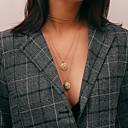 hesapli Kolyeler-Kadın's Uzun Uçlu Kolyeler / katmanlı Kolyeler - Şık, Vintage Havalı Altın, Gümüş 28+7 cm Kolyeler Mücevher 1pc Uyumluluk Hediye, Günlük