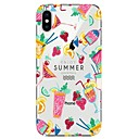 cheap iPhone Cases-Case For Apple iPhone X / iPhone 8 Transparent / Pattern Back Cover Ice Cream Soft TPU for iPhone X / iPhone 8 Plus / iPhone 8