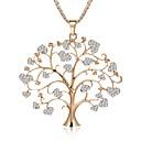 preiswerte Ringe-Damen Seil Statement Ketten - Strass Baum des Lebens Stilvoll, Anhänger Stil, Niedlich Cool Gold, Silber, Rotgold 75 cm Modische Halsketten Schmuck 1pc Für Geburtstag, Bar