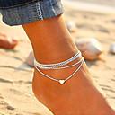 ieftine Brățară Gleznă-Pentru femei gleznă brățară picioare bijuterii Multistratificat stivuibil Inimă femei Corean Modă Brățară Gleznă Bijuterii Argintiu Pentru Zilnic Ieșire