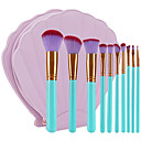 hesapli Makyaj ve Tırnak Bakımı-10'lu Paket Makyaj fırçaları Profesyonel Fırça Setleri Çevre-dostu / Yumuşak Plastik