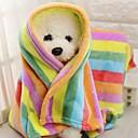 billige Kopper og glas-Bærbar / Mini / Hold Varm Hunde tøj Senge / Håndklæder Farveblok / Patchwork Regnbue Gnavere / Hunde / Katte