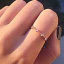 olcso Gyűrűk-Női Gyémánt Kristály Kocka cirkónia Szobor Tail Ring Ötvözet Virág hölgyek Koreai Divat Divatos gyűrű Ékszerek Arany / Ezüst Kompatibilitás Ajándék Napi