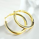 cheap Earrings-Women's Hollow Hoop Earrings - Gold Plated Creative Simple, Classic, Fashion Gold For Daily Street