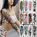 cheap Temporary Tattoos-2 pcs Temporary Tattoos Smooth Sticker / Safety Arm Card Paper / Decal-style temporary tattoos
