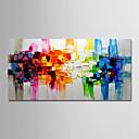 billige Turkis halskæder-Hang-Painted Oliemaleri Hånd malede - Abstrakt Landskab Moderne Uden indre ramme / Valset lærred