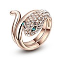 cheap Rings-Women's Cubic Zirconia 3D Snake Ring - Rose Gold Plated, Alloy Snake 6 / 7 / 8 Rose Gold For Street Club