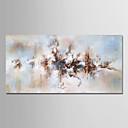 رخيصةأون لوحات-هانغ رسمت النفط الطلاء رسمت باليد - الأزهار / النباتية الحديث بدون إطار داخلي / توالت قماش
