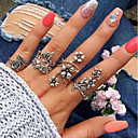 cheap Women's Watches-Women's Vintage Style / Hollow Out Open Cuff Ring / Ring Set - Leaf, Flower Vintage, Bohemian Silver For Daily / Street / 4pcs