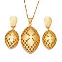ieftine Ceasuri Damă-Pentru femei Set bijuterii - Boem, Modă Include Cercei Rotunzi Coliere cu Pandativ Auriu Pentru Petrecere Cadou / Σκουλαρίκια