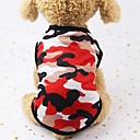 cheap Dog Clothing & Accessories-Dogs / Cats / Furry Small Pets Denim Jacket / Jeans Jacket / Jacket / Life Vest Dog Clothes Polka Dot / Geometric / Print Red / Green / Blue Cotton Costume For Pets Female Sports & Outdoors / Casual