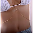 hesapli Vücut Takıları-Şık / Rolo Vücut Zinciri / Belly Chain Gwiazda Bayan, Basit, Wzór geometryczny, Moda Kadın's Altın Vücut Mücevheri Uyumluluk Randevu / Bikini