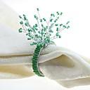 hesapli Peçeteler ve Peçete Halkaları-Ayırt edilen / Klasik Cam / Plastik Dörtgen Peçete Yüzüğü Solid Çiçek Masa Süslemeleri 12 pcs