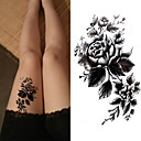 cheap Temporary Tattoos-3 pcs Tattoo Stickers Temporary Tattoos Flower Series / Romantic Series Eco-friendly / New Design Body Arts Body / Arm / Chest / Decal-style temporary tattoos