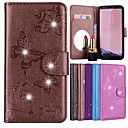 cheap iPhone 6s / 6 Screen Protectors-Case For Apple iPhone X / iPhone 8 Card Holder / Rhinestone / with Stand Full Body Cases Butterfly / Flower Hard PU Leather for iPhone 8 Plus / iPhone 8 / iPhone 7 Plus