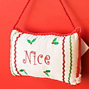 cheap Home Decoration-Christmas Storage / Christmas Ornaments Holiday Cotton Fabric Square Novelty Christmas Decoration