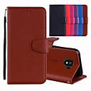 cheap Galaxy J Series Cases / Covers-Case For Samsung Galaxy J6 / J4 Card Holder / with Stand / Flip Full Body Cases Solid Colored Hard PU Leather for J7 Prime 2(J7 Prime (2018)) / J6 / J4