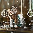 hesapli Duvar dekorasyonu-Pencere Filmi ve Çıkartma Dekorasyon Noel Tatil PVC Pencere Çıkartması