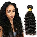 hesapli Makyaj ve Tırnak Bakımı-1 Paket Hintli Saçı Derin Dalga Gerçek Saç İnsan saç örgüleri 10-20 inç İnsan saç örgüleri İnsan Saç Uzantıları