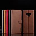 رخيصةأون إكسسوارات سامسونج-غطاء من أجل Samsung Galaxy Note 9 / Note 8 محفظة / حامل البطاقات / مع حامل غطاء كامل للجسم لون سادة قاسي جلد PU