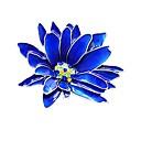 baratos Colares-Mulheres Fashion Broches Flor senhoras Estiloso Clássico Broche Jóias Azul Para Diário