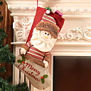 cheap Home Decoration-Stockings / Christmas Ornaments Holiday Cotton Fabric Square Novelty Christmas Decoration